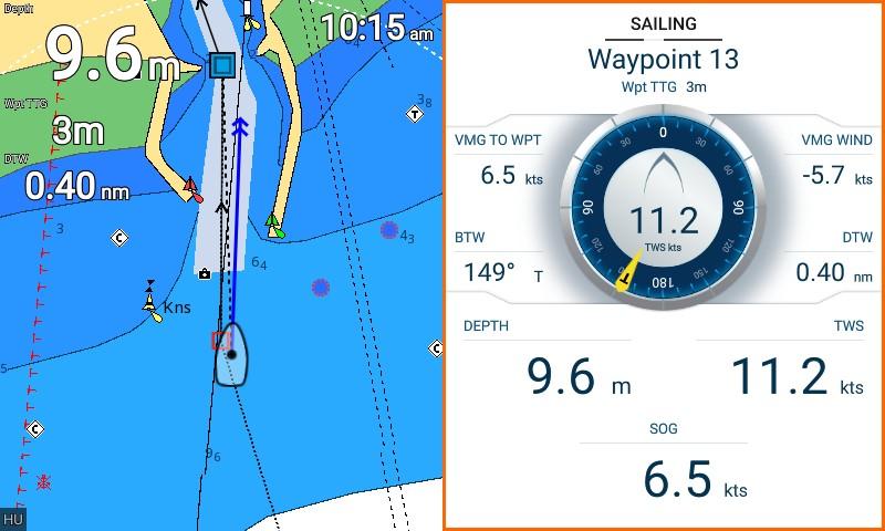 Element split cmap sailing